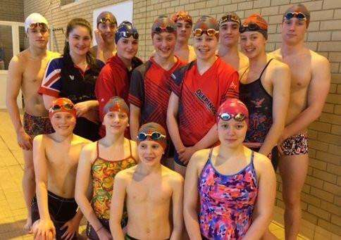 The Deepings Swimming Club squad which competed at the East Midlands Championships.