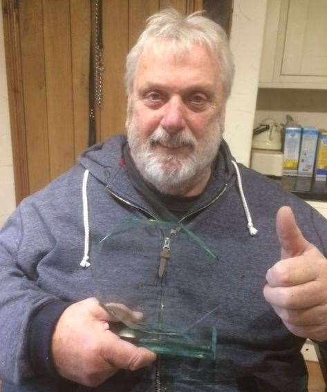 Geoff Capes with his Active Lincolnshire Lifetime Achievement Award.Photo supplied (22683072)