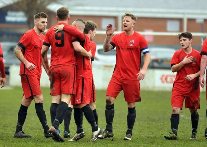 Celebrations for Pinchbeck United