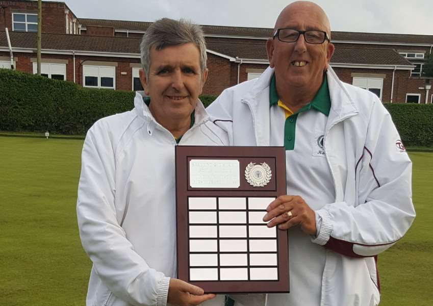 Perserverance Pairs winners John McGroarty and Kenny Kirton.