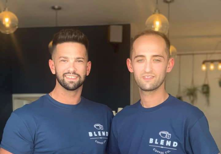 SAFE REOPENING: Blend Coffee Co directors Oli Crawley and Tom Jennion