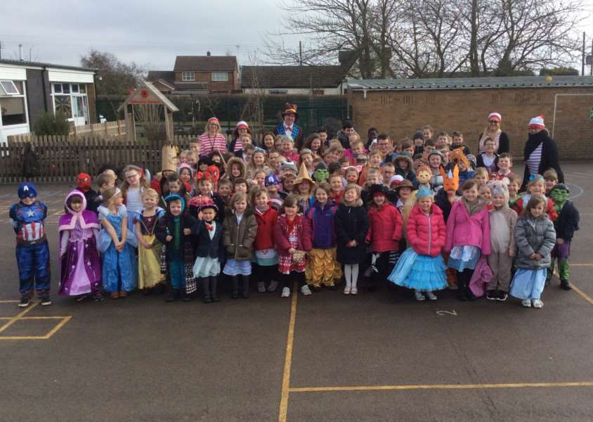 World Book Day at St Bartholomew's Primary School in West Pinchbeck