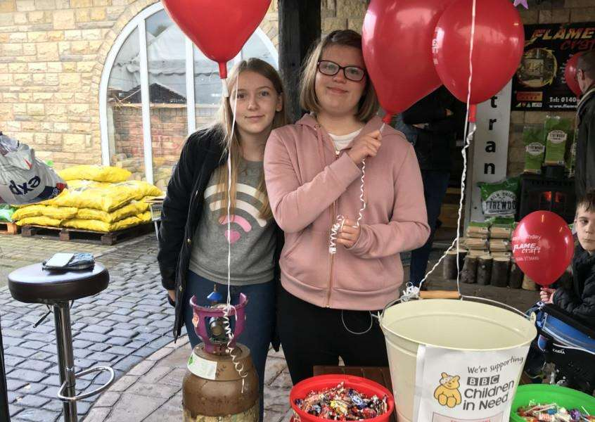 Molly and Rebecca Grimwood fundraising for Children In Need.