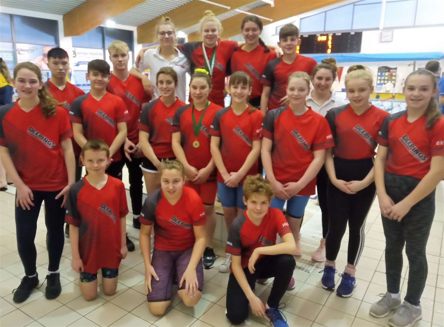 Deepings Swimming Club youngsters at the final weekend of the Lincolnshire County Championships.Photo supplied. (28862628)
