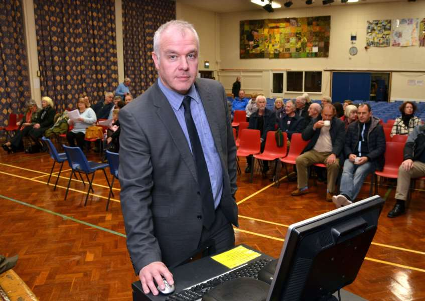 EXTRA TIME: Springwell Academy executive principal Dave Whitaker at Spalding High School for a public meeting on plans to open a new school at Spalding's South Holland Post 16 Centre. Photo by Tim Wilson. SG071217-500TW.