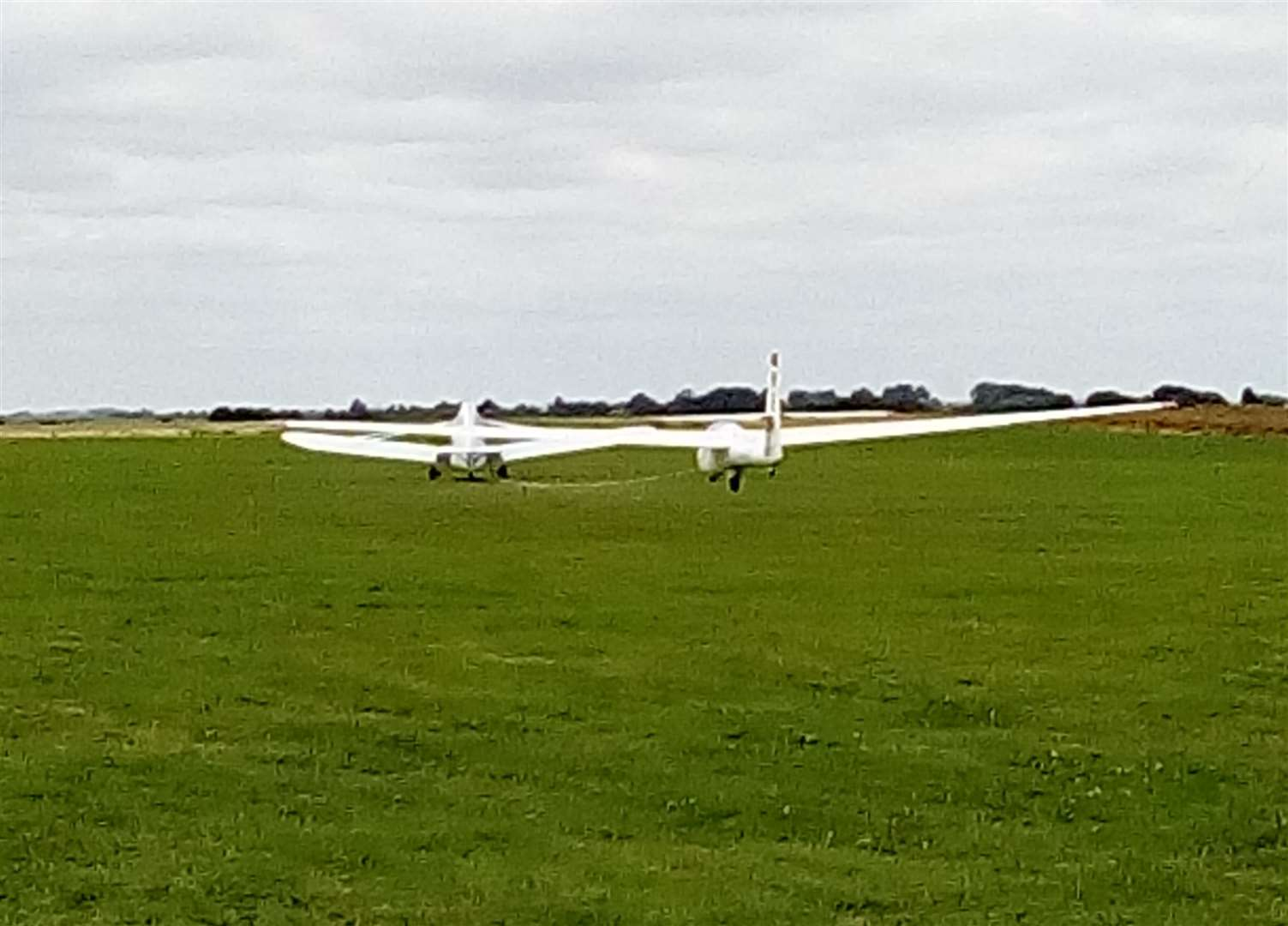 And they're off across the airfield