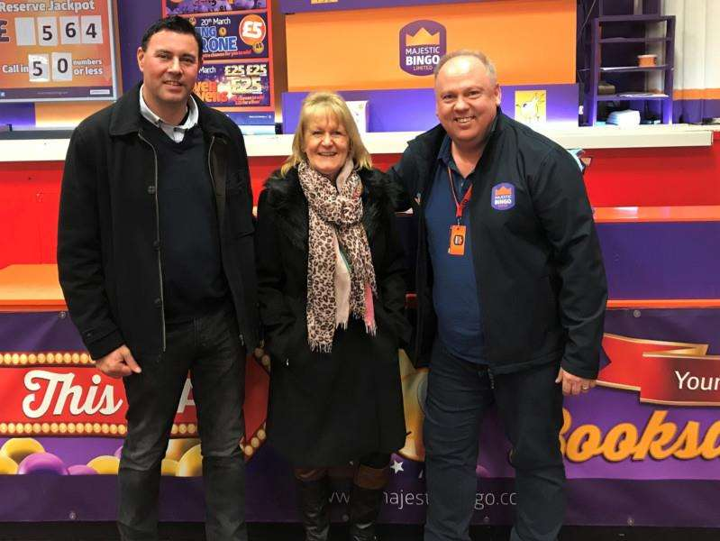 Gary Taylor, Jan Whitbourn and Mark Jepp look forward to the Royal Wedding celebrations at Regent Bingo.