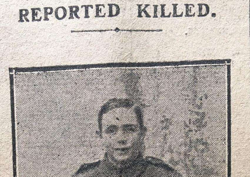 Private B Lambert, from Deeping St Nicholas, lost his life