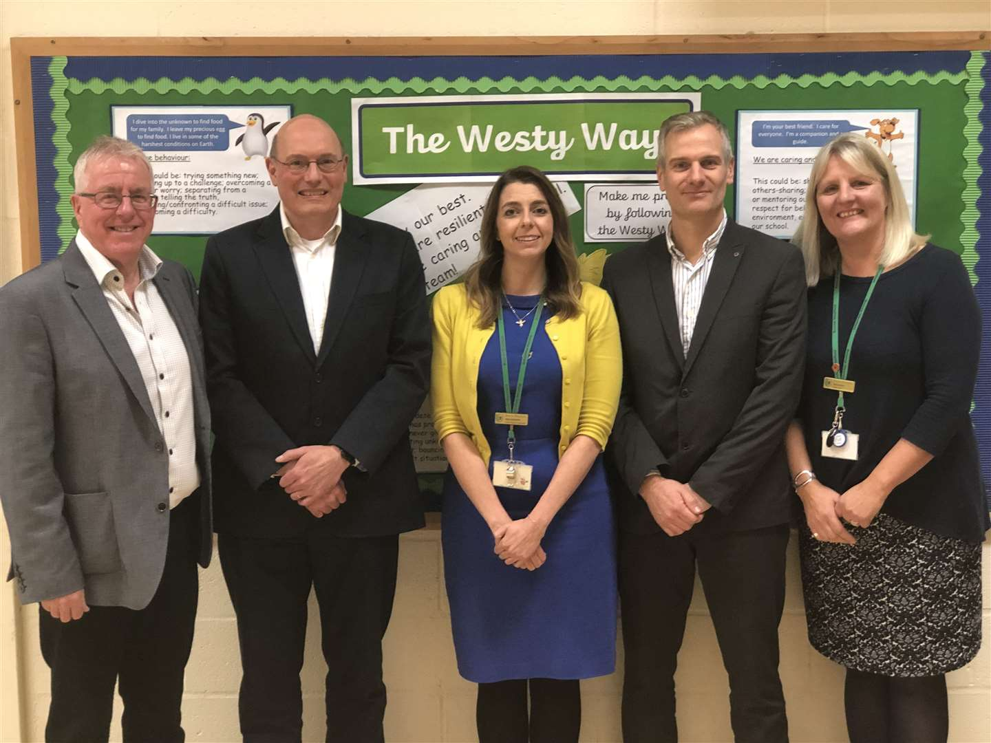 School governors with Elaine Radley (right), executive head teacher of Bourne Westfield Primary Academy, where Keystone Academy Trust is based.