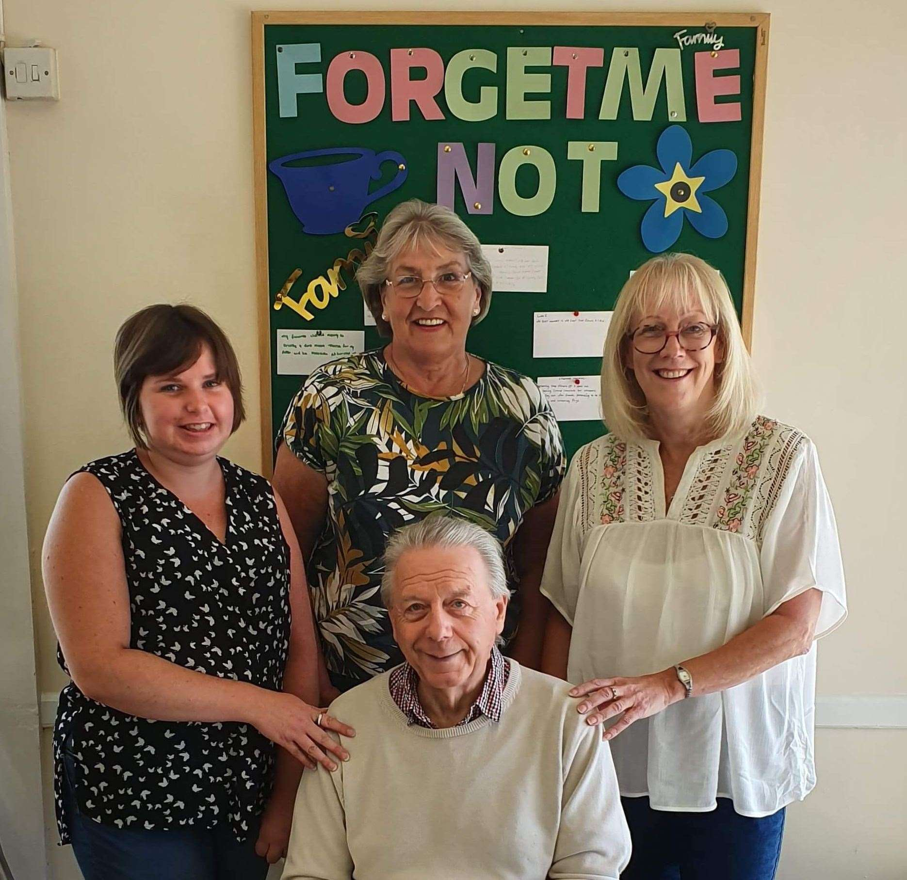 Lucy Bale, co-ordinator for Forget-Me-Note Café, Jean Gifford, dementia co-ordinator for Tonic Health Spalding, Rose Evans and David Ringham (front), trustees of Crowland Cares.Photo supplied.