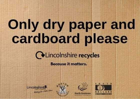 Nearly 3,000 homes in South Holland are part of a paper and cardboard recycling collection trial.Photo supplied by Lincolnshire County Council.