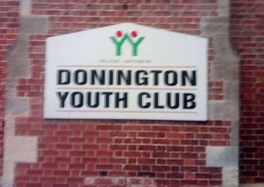Donington Youth Club closed for good with an auctioning off of sports equipment and stationery on Tuesday.