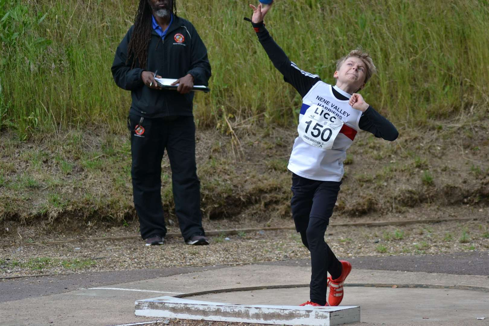 Lawson Capes, the first 10-year-old shot putter ever to throw over 10 metres.