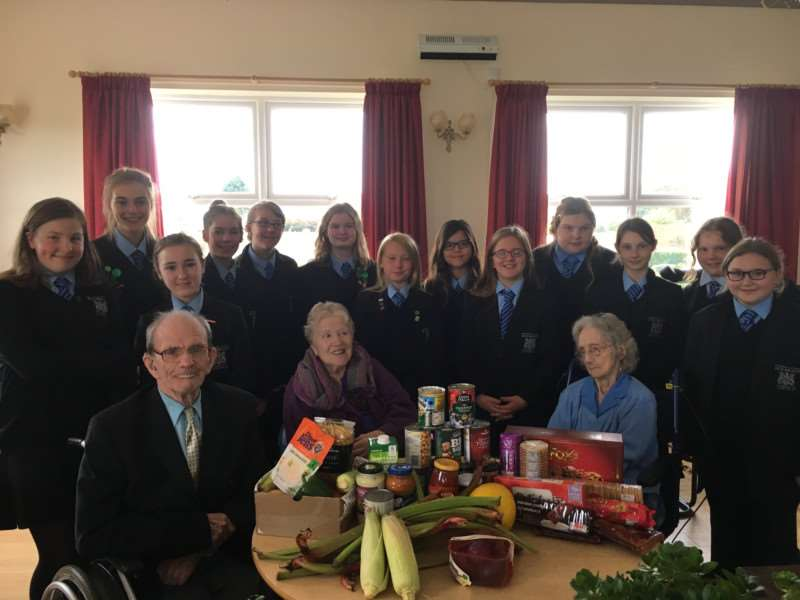 University Academy Holbeach's Chamber Choir visited Holbeach Hospital and delivered Harvest Festival gifts brought in by Year 7 students.
