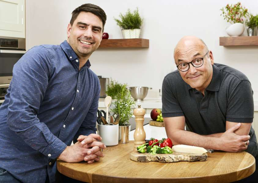 Eat Well for Less presenters Chris Bavin and Greg Wallace. Photo: BBC