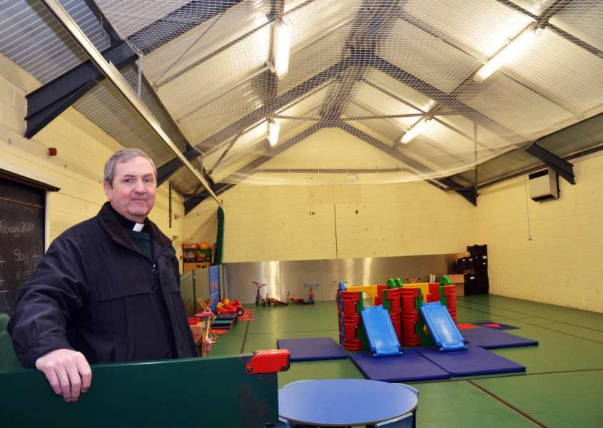 Rev Ian Walters inside the Gosberton Youth Club which closed due to the fact it couldn't get a youth worker. (SG050218-152TW)