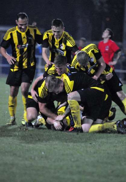 Holbeach United had plenty to celebrate on Friday night