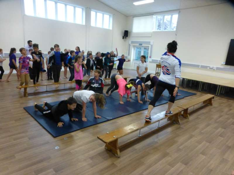 Marissa King puts pupils through their paces
