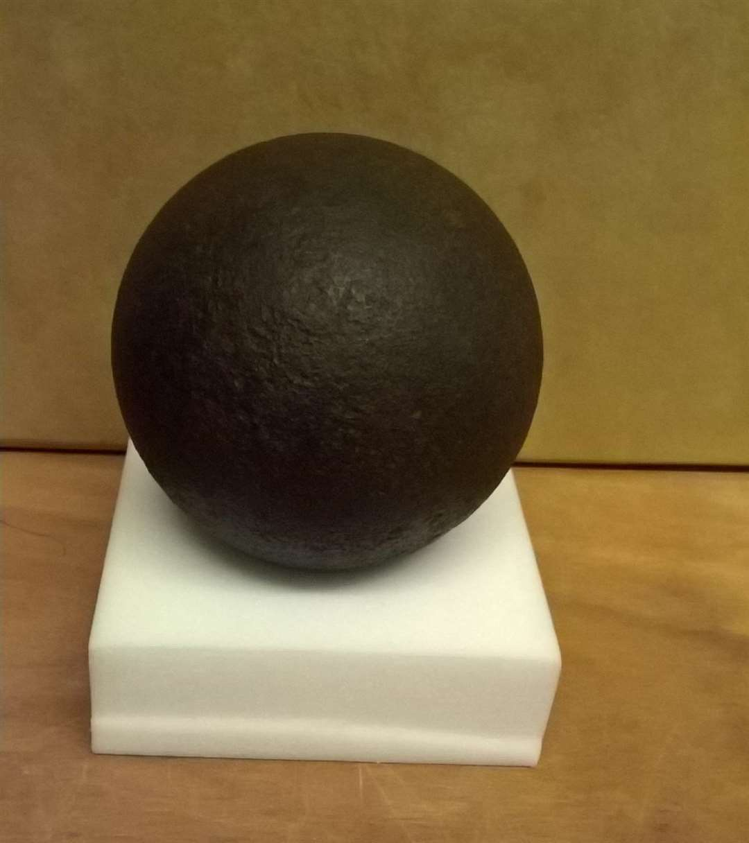 An old cannonball found in Lincolnshire. Photo supplied by Holbeach Civic Society. (2453940)