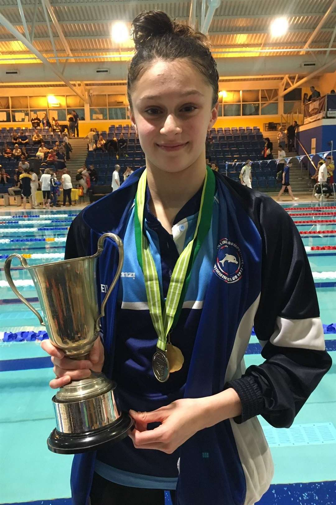 South Lincs Competitive Swimming Club gold medallists in the girls' 200m breaststroke Ellisha Cookson.Photo supplied.