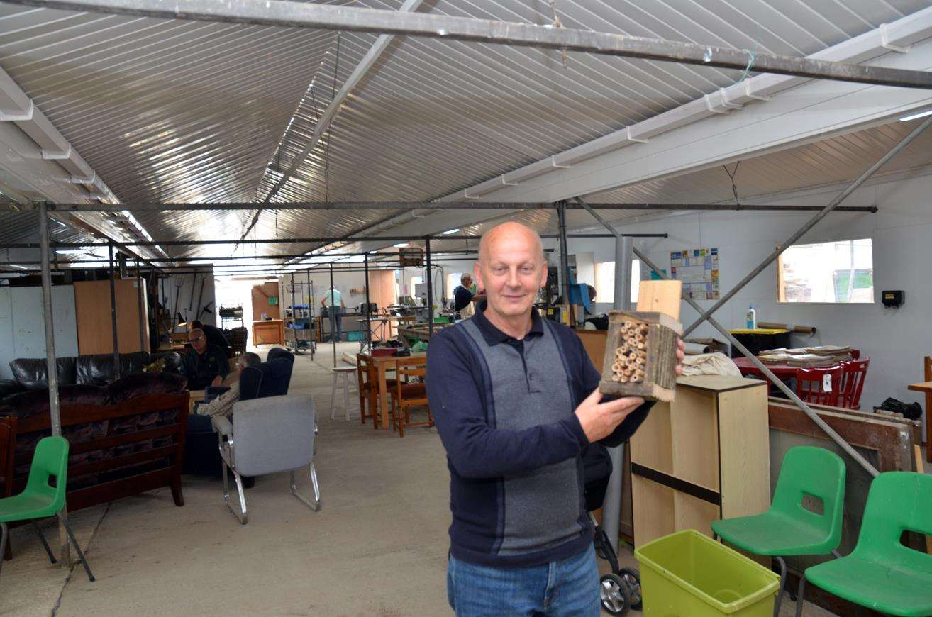 Long Sutton businessman Jack Tyrrell in the greenhouse transformed by the shedders.