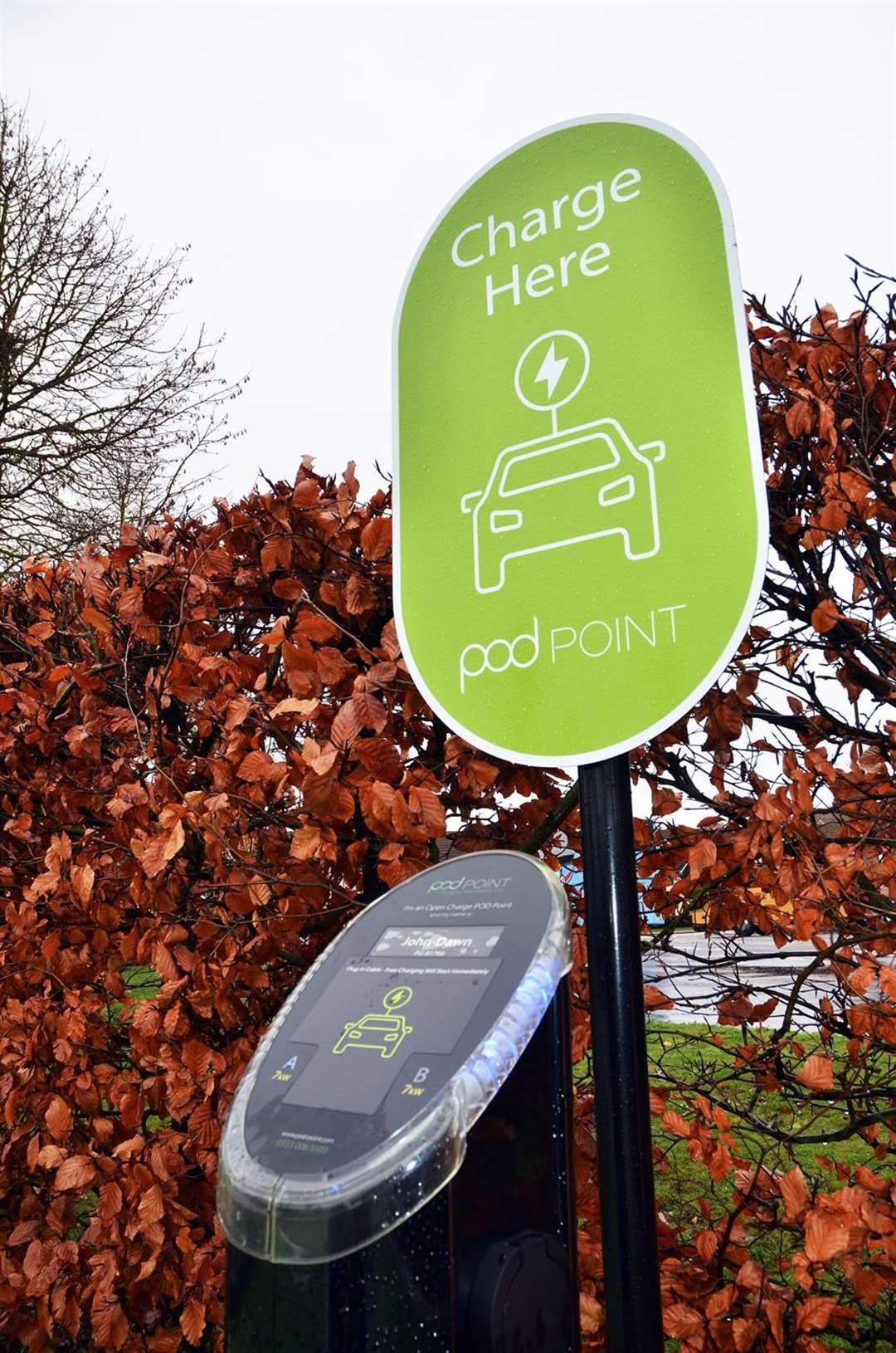 Springfields Outlet Shopping car park in Spalding currently has electric vehicle charging bays. PHOTO: Tim Wilson. (5872139)