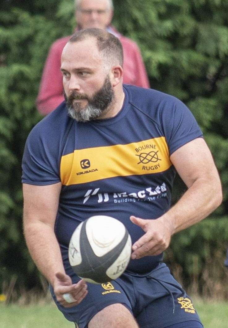Director of rugby Dave Maudsley came out of retirement to play for Bourne at Market Rasen.