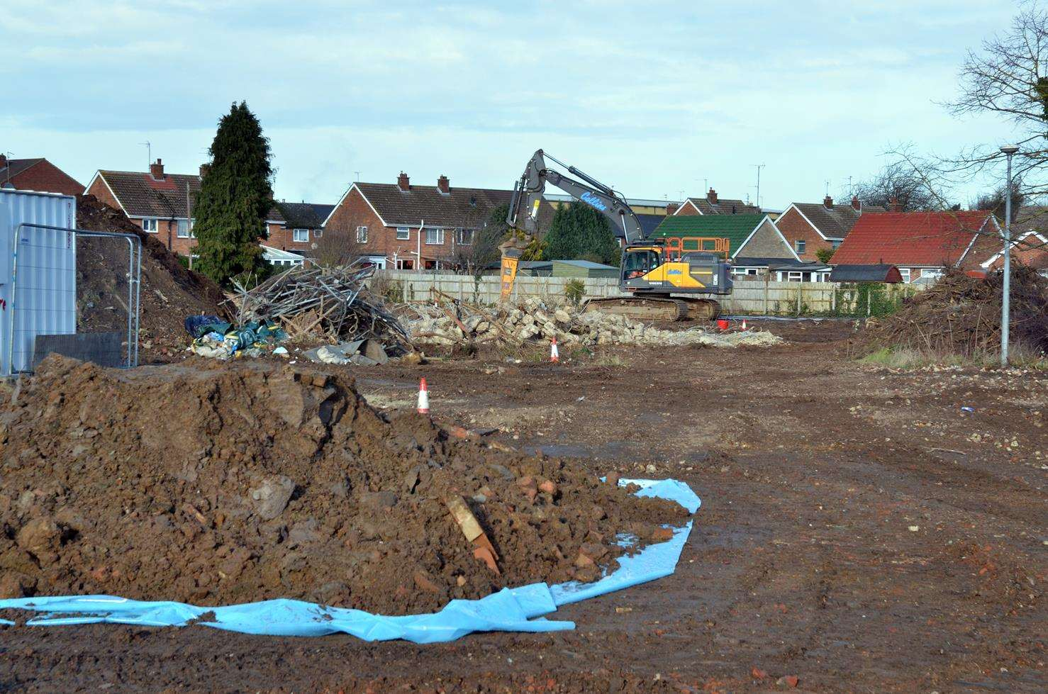 The site of the new Lidl supermarket is being prepared for building work to start in March. (220119-17)