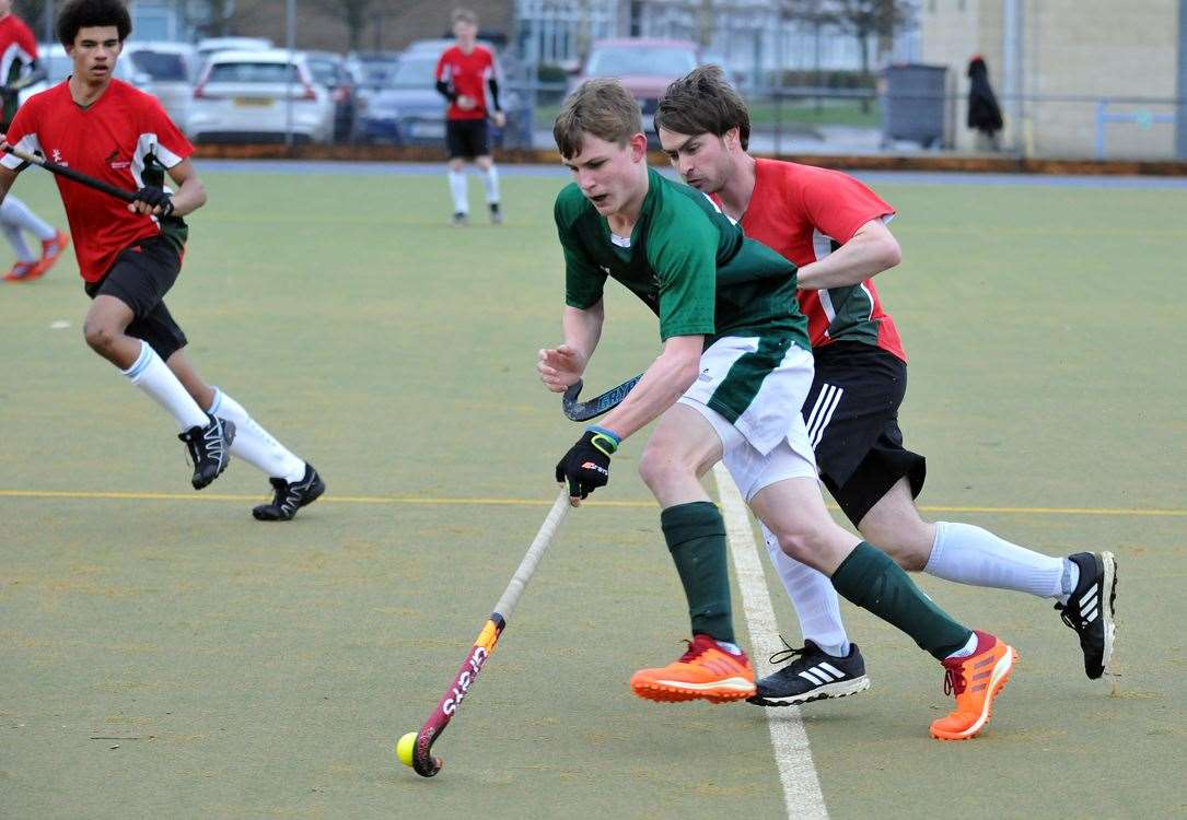 Josh Baker in action for Long Sutton men's 1sts in his side's previous home game against Norwich Dragons 1sts.Photo: SG-150220-012TW.