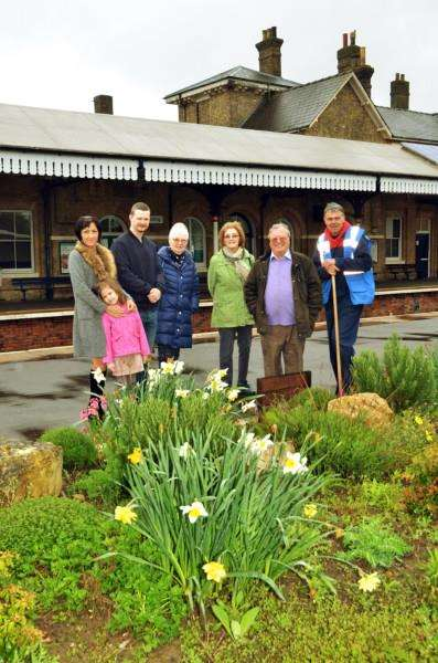 Volunteers help keep Spalding's Railway Station looking good. Pictured are: Gunita Sele, Gabby Sele, Coun Jack McLean, Coun Christine Lawton, Coun Anglea Newton, George Scott and Kevin Mothers. (SG280418-177TW)