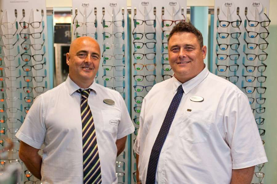 Ian and Neil Stradling, who are opening a new branch of Specsavers in Holbeach.