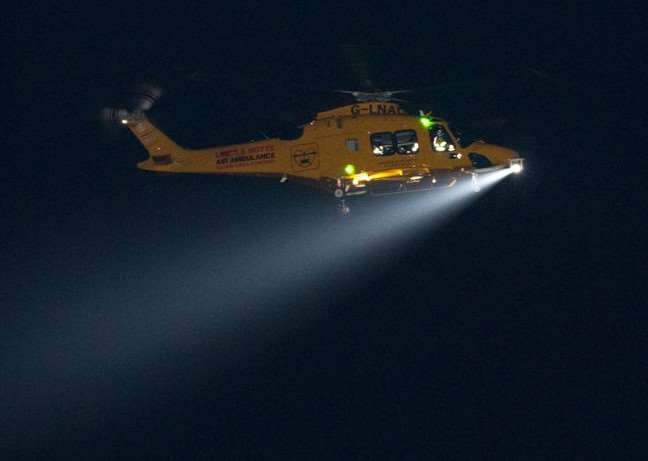 Lincs & Notts Air Ambulance is extending its cover to 24 hours. (Photo provided).