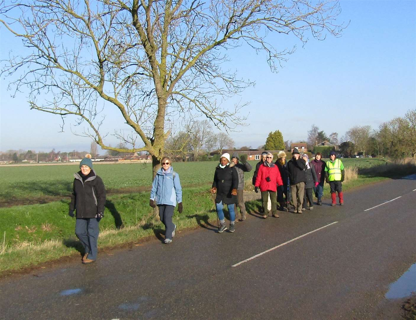 'The Happy Wanderers' from Spalding and District U3A, out on a walk. (7797374)