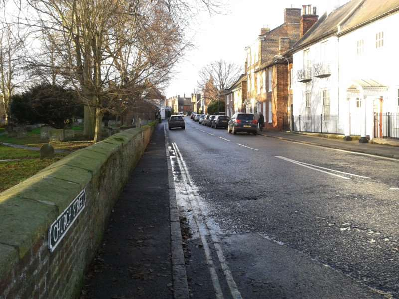 Church Street in Spalding, where Paul Raymond Stubbs asked the victim to perform a sex act in broad daylight.