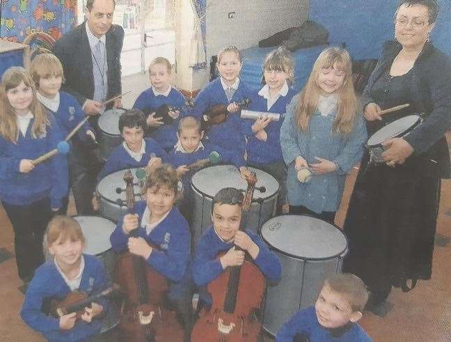 Music teachers David and Joceline Reeve provide string and samba classes for Whaplode Primary pupils (8014066)