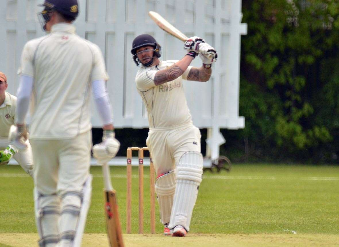 Josh Newton hit a half-century for Spalding 1sts in their win over Boston. (15020615)