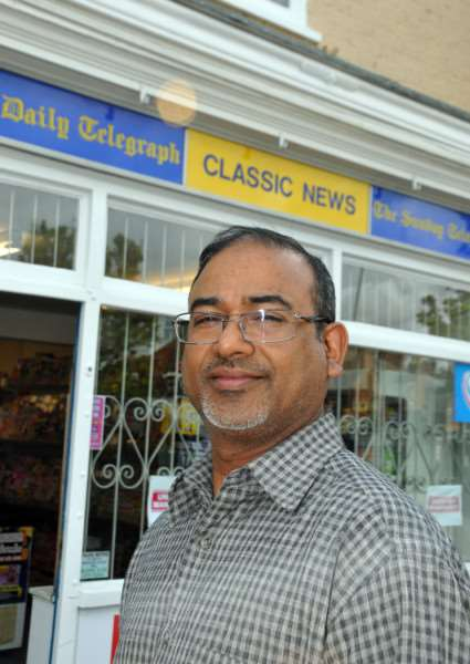 Asgar Vanparekh, co-owner of Classic News in Sheep Market, called for 'bigger penalties' after the manager of the Nasza Biendronka store, also in Sheep Market, was told to pay a total of nearly �2,600 by Lincoln magistrates. Photo by Tim Wilson. SG030615-105TW.