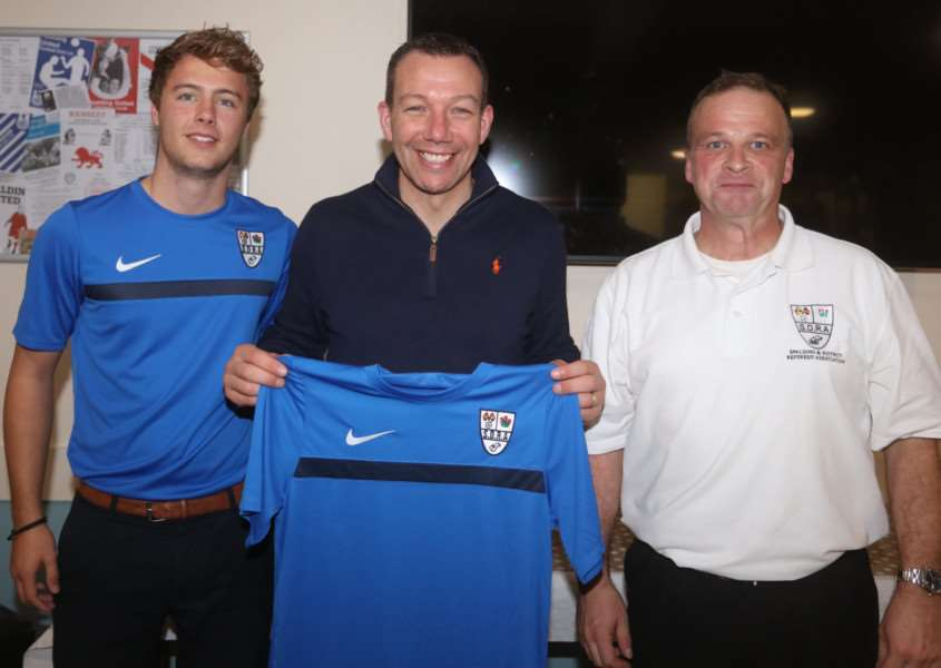 Kevin Friend with Simon Bell (left) and Jon Amess. RWT Photography
