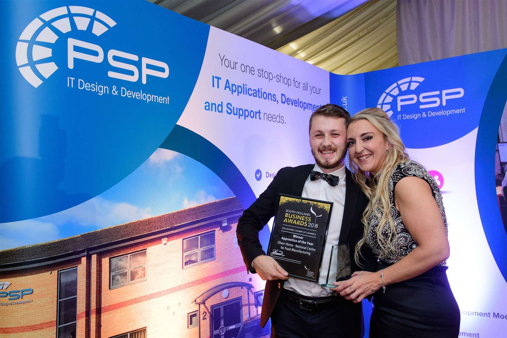 Apprentice of the Year award, sponsored by University Academy Holbeach. Winner: Oliver Horne - National Centre for Food ManufactureSouth Holland Business Awards 2018, hosted by Lincolnshire Chamber of Commerce and held at Springfields Events and Conference Centre.Picture: Chris Vaughan Photography for Lincolnshire Chamber of CommerceDate: November 15, 2018 (14022199)