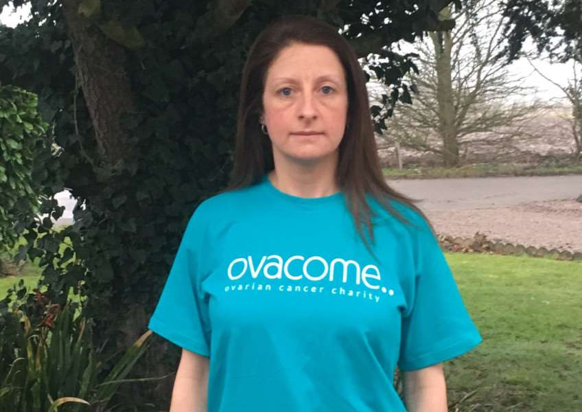 Susie Gosby, who is running the London Marathon for the charity Ovacome.