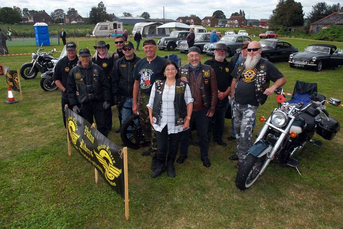 Members of the Vulcan Riders Association at the Bicker Steam Threshing and Classic Car Show.Photo by Tim Wilson. SG-070919-067TW