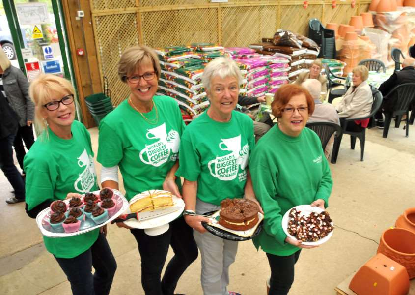 Butters Factory Shop in Spalding is holding a coffee morning on Friday. Pictured are the team at last year's event. (SG071016-105TW)