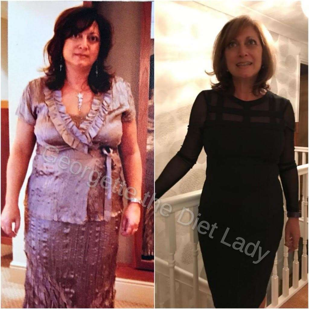 Georgette Louis, before and after she lost 3st on The 1:1 Diet in 2018. (27443857)