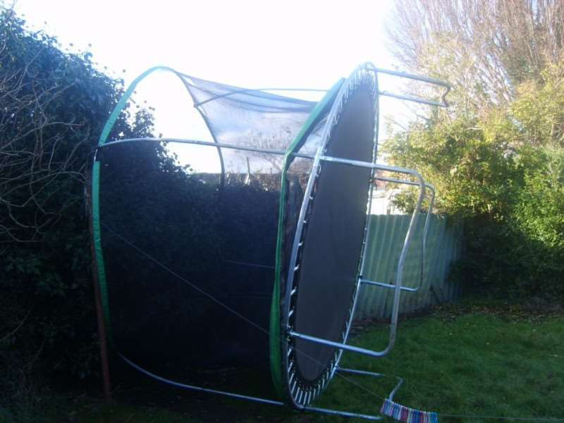 David Walkden woke up this morning to find someone else's trampoline in his garden!