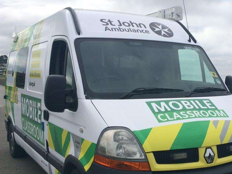 The St John Ambulance mobile classroom is on its way to Holbeach and Long Sutton this week.