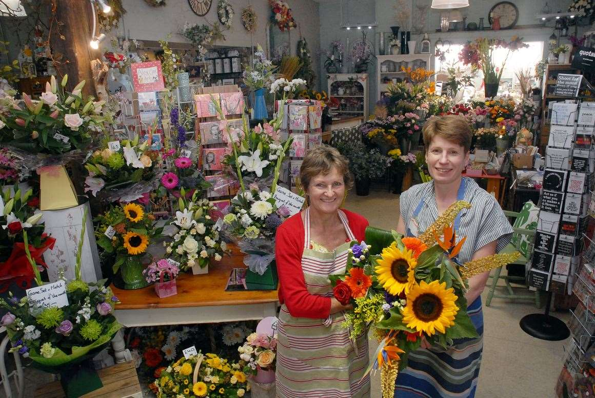 Owners Jane Fletcher and Anna Avery inside Flowers 'n' Things. (13301783)