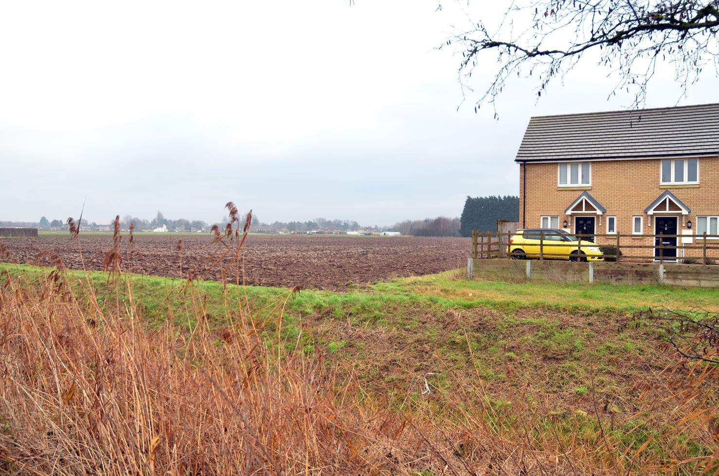 Land off Lime Walk and Anfield Road, Long Sutton, that could be used for up to 70 new homes. Photo (TIM WILSON): SG-250119-004TW.