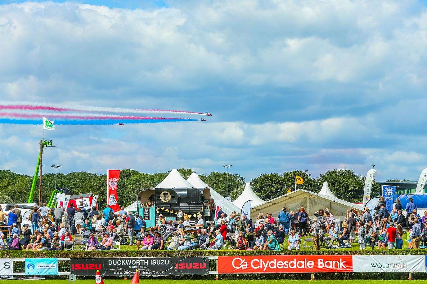 The Red Arrows at a previous year at the Lincolnshire Show. Image: Kamara Photography.