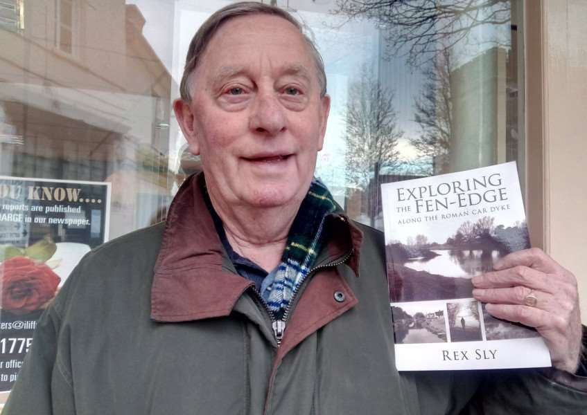 Rex Sly with his new book, Exploring The Fen-Edge.