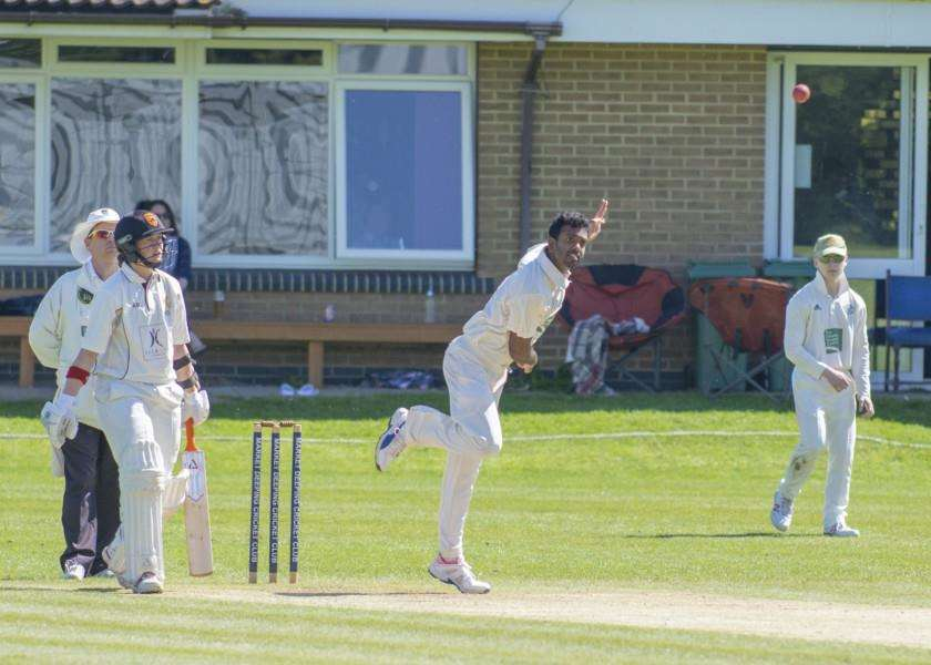 Sri Lankan Sachathra Perera on his Deeping debut. Photo: Lee Hellwing